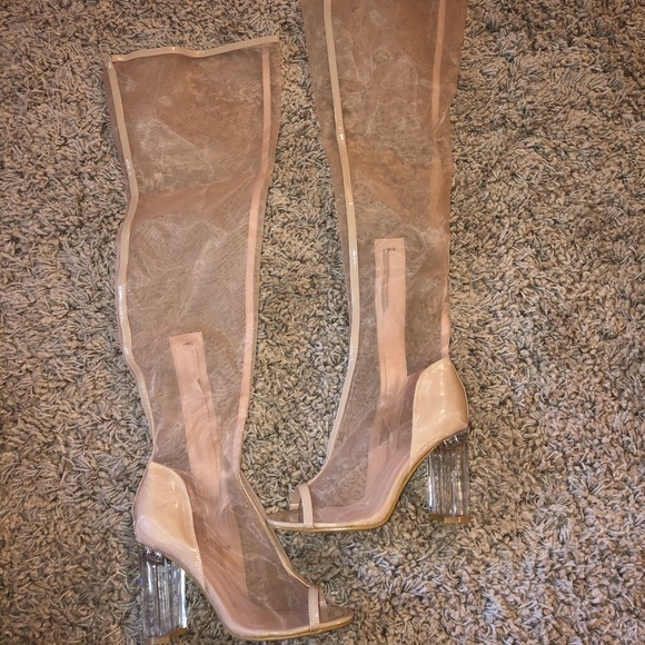 Top Show Shoes - NWOT Over The Knee Mesh Boots